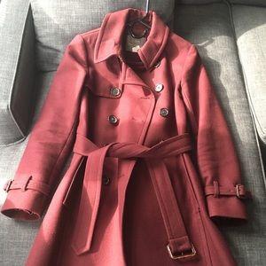 J Crew red trench coat